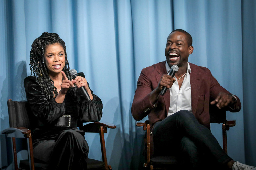 "THIS IS US -- ""This Is Us Screening"" -- Pictured: (l-r) Susan Kelechi Watson, Sterling K. Brown at San Vicente Bungalows in West Hollywood, CA -- (Photo by: Chris Haston/NBC)"
