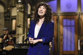"SATURDAY NIGHT LIVE -- ""Sandra Oh"" Episode 1762 -- Pictured: Host Sandra Oh during the monologue on Saturday, March 30, 2019 -- (Photo by: Will Heath/NBC)"