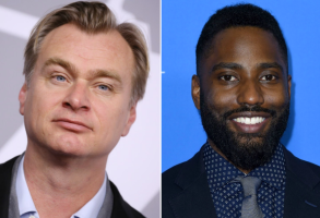 Christopher Nolan and John David Washington