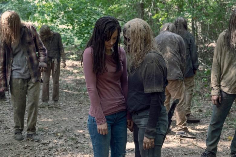 Cassady McClincy as Lydia, Samantha Morton as Alpha - The Walking Dead _ Season 9, Episode 12 - Photo Credit: Gene Page/AMC