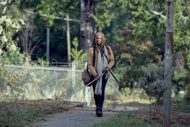 Danai Gurira as Michonne- The Walking Dead _ Season 9, Episode 14 - Photo Credit: Gene Page/AMC