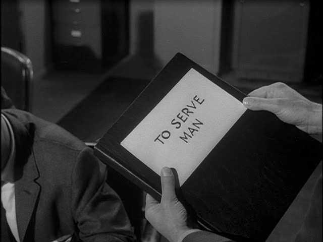 """The Twilight Zone"" episode ""To Serve Man"""