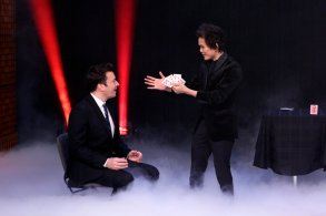 THE TONIGHT SHOW STARRING JIMMY FALLON -- Episode 1026 -- Pictured: (l-r) Host Jimmy Fallon watches magician Shin Lim perform on March 1, 2019 -- (Photo by: Andrew Lipovsky/NBC)