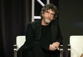 Neil GaimanStarz 'American Gods' TV Show Panel, TCA Winter Press Tour, Los Angeles, USA - 12 Feb 2019