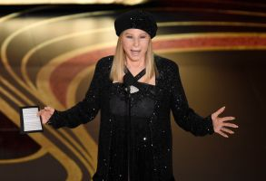 "Barbra Streisand introduces ""BlacKkKlansman"" at the Oscars, at the Dolby Theatre in Los Angeles91st Academy Awards - Show, Los Angeles, USA - 24 Feb 2019"