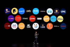 Peter Stern, Apple Vice President of Services, speaks at the Steve Jobs Theater during an event to announce new products, in Cupertino, CalifApple Streaming TV, Cupertino, USA - 25 Mar 2019