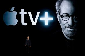 Director Steven Spielberg speaks at the Steve Jobs Theater during an event to announce new Apple products, in Cupertino, CalifApple Streaming TV, Cupertino, USA - 25 Mar 2019