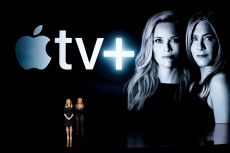 Actors Reese Witherspoon, left, and Jennifer Aniston speak at the Steve Jobs Theater during an event to announce new Apple products, in Cupertino, CalifApple Streaming TV, Cupertino, USA - 25 Mar 2019