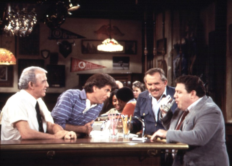 Editorial use only. No book cover usage.Mandatory Credit: Photo by Moviestore/REX/Shutterstock (1539446a) Cheers 1982-1993, Nicholas Colasanto, Ted Danson, John Ratzenberger, George Wendt Film and Television