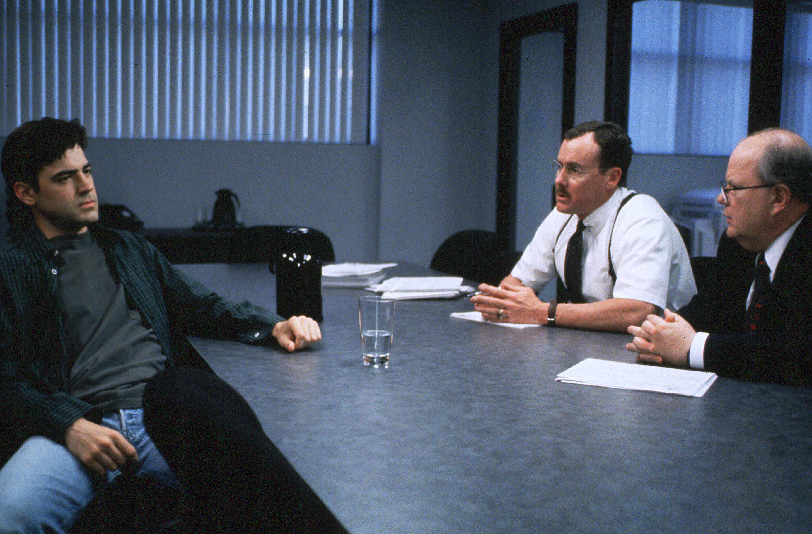 "Ron Livingston, John C. McGinley, and Paul Willson in ""Office Space"""