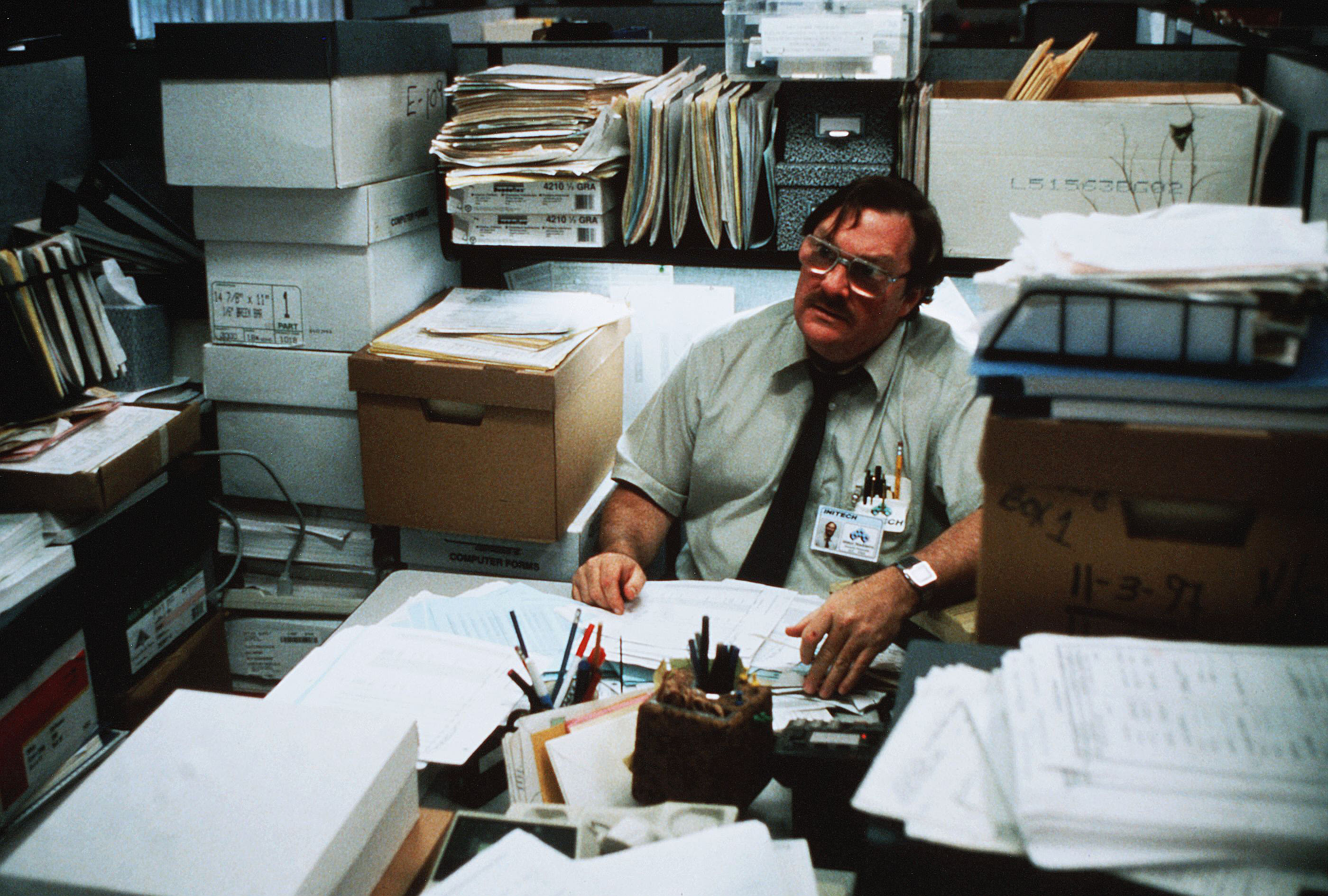 "Stephen Root in ""Office Space"""