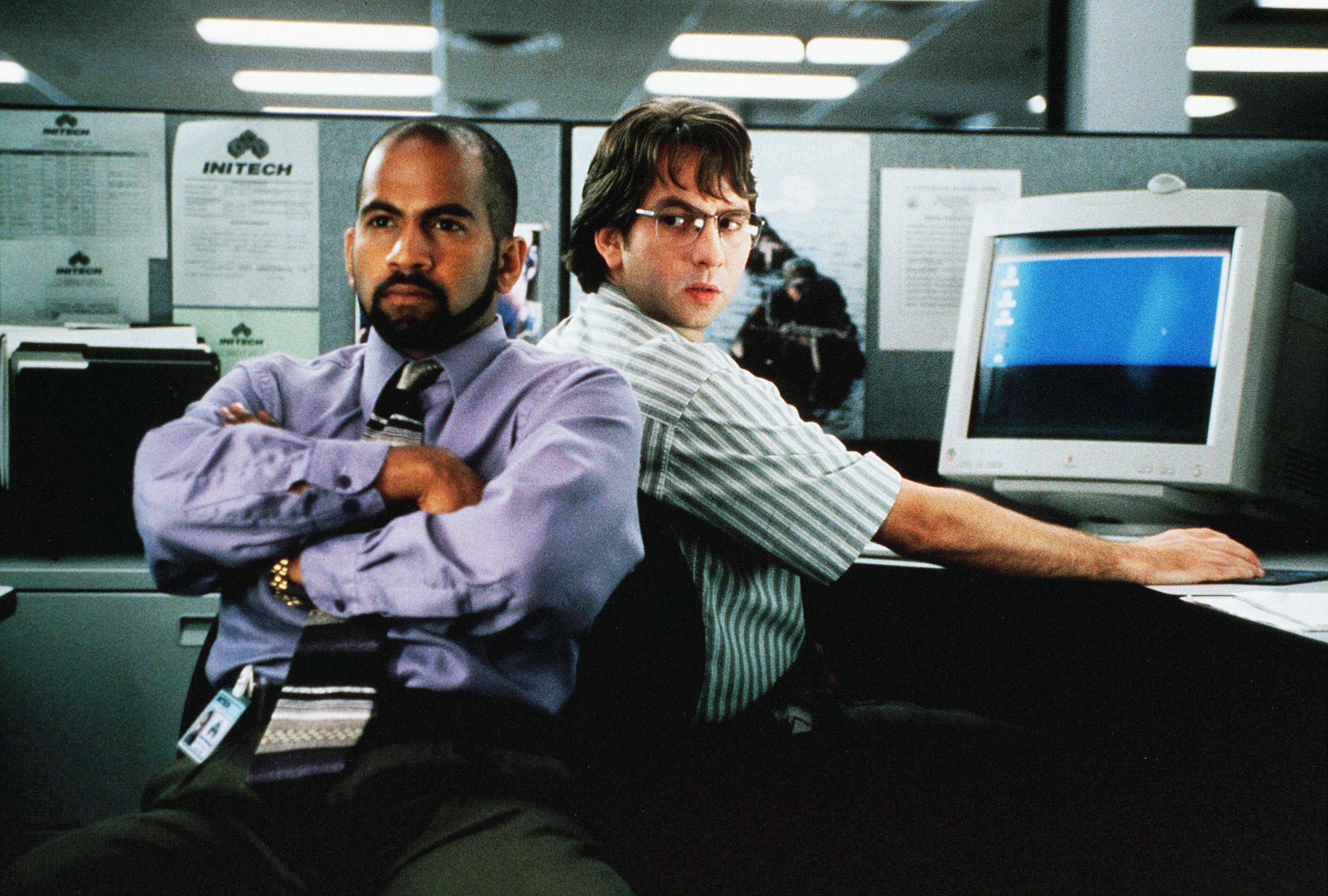 "Ajay Naidu and David Herman in ""Office Space"""