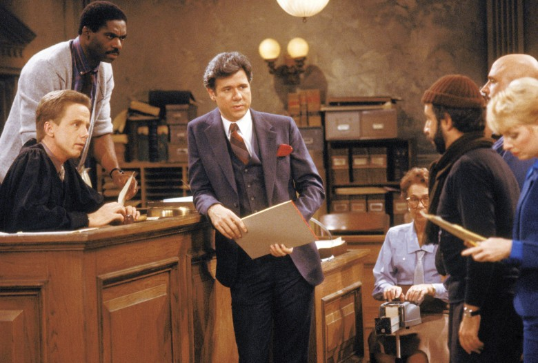 Editorial use only. No book cover usage.Mandatory Credit: Photo by Nbc-Tv/Kobal/REX/Shutterstock (5882810j) Charlie Robinson, John Larroquette, Harry Anderson Night Court - 1984-1992 NBC-TV TV Portrait