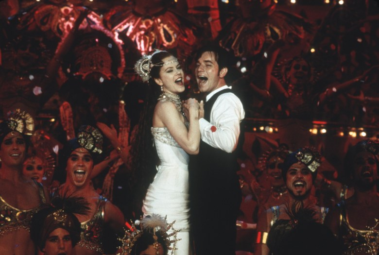 Editorial use only. No book cover usage.Mandatory Credit: Photo by 20th Century Fox/Kobal/REX/Shutterstock (5883223j) Nicole Kidman, Ewan McGregor Moulin Rouge - 2001 Director: Baz Luhrmann 20th Century Fox USA Scene Still