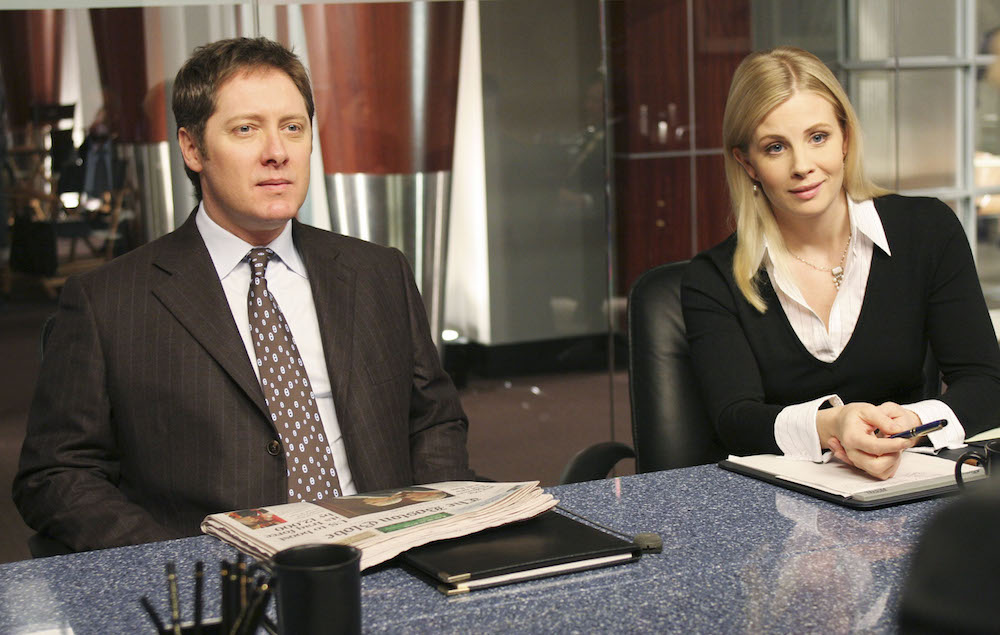 Editorial use only. No book cover usage.Mandatory Credit: Photo by Abc-Tv/Kobal/REX/Shutterstock (5884972ah) James Spader, Monica Potter Boston Legal - 2004 ABC-TV USA Television