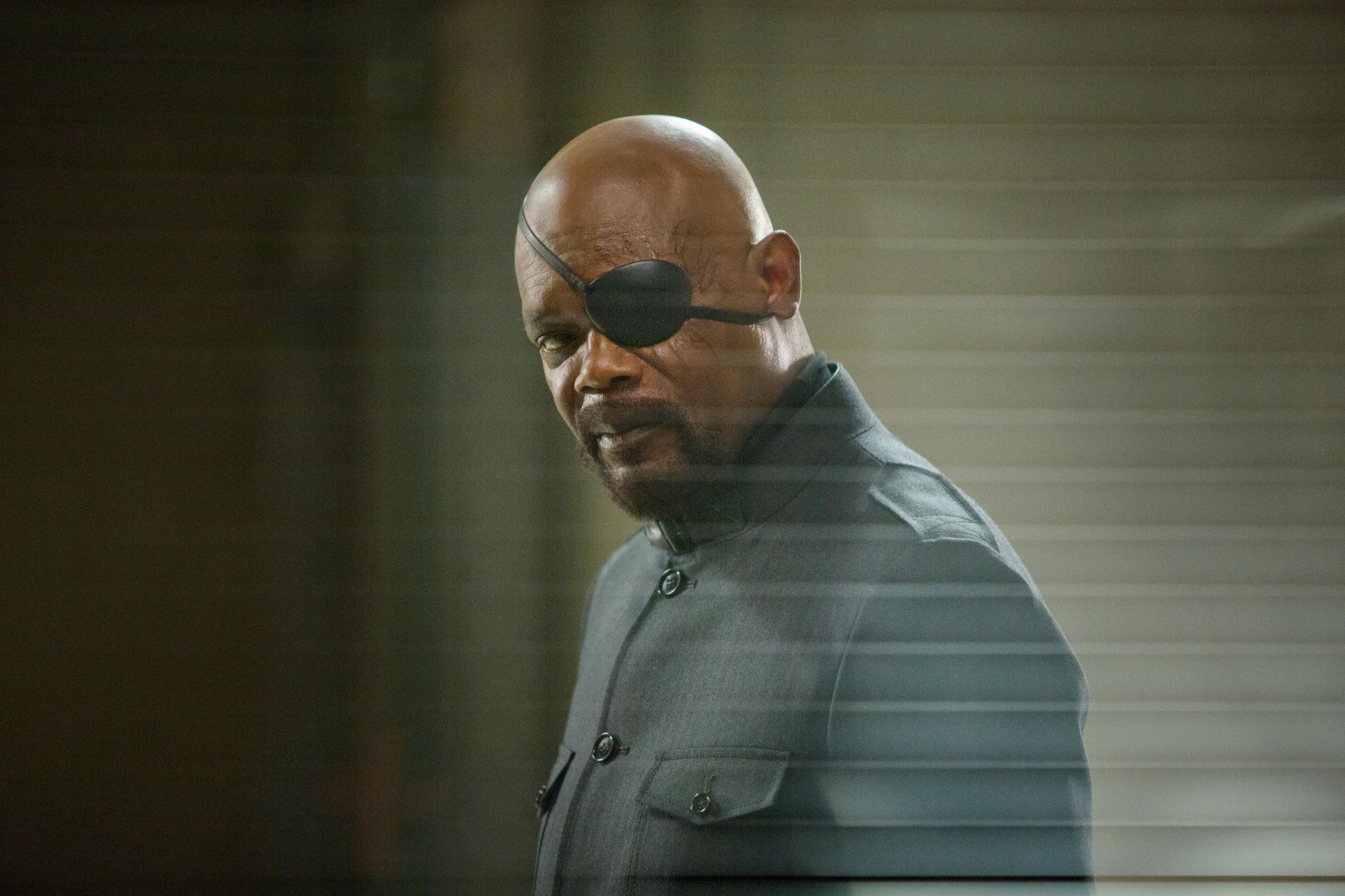 Nick Fury fading off into the sunset