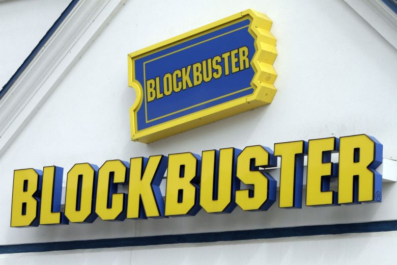A Blockbuster sign on a store is seen in Barre, Vt., . Troubled video-rental chain Blockbuster Inc. filed for Chapter 11 bankruptcy protection, and said Thursday, Sept. 23, it plans to keep stores and kiosks open as it reorganizesBlockbuster Bankruptcy, Barre, USA