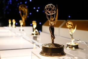 A Emmy award statuettes are seen during the 2017 Governors Ball Press Preview at The Los Angeles Convention Center on in Los Angeles, Calif2017 Governors Ball Press Preview, Los Angeles, USA - 07 Sep 2017