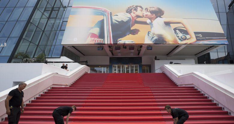 Palais des FestivalsPreparations, 71st Cannes Film Festival, France - 08 May 2018