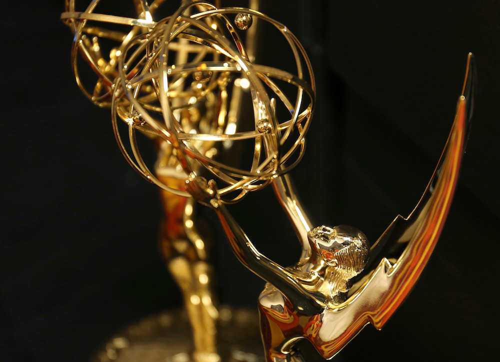 An emmy award is seen at 70th Engineering Emmy Awards on in Los Angeles2018 Engineering Emmy Awards, Los Angeles, USA - 24 Oct 2018