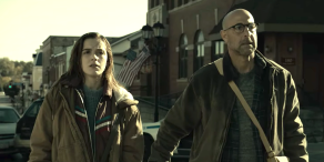 "Kiernan Shipka and Stanley Tucci, ""The Silence"""