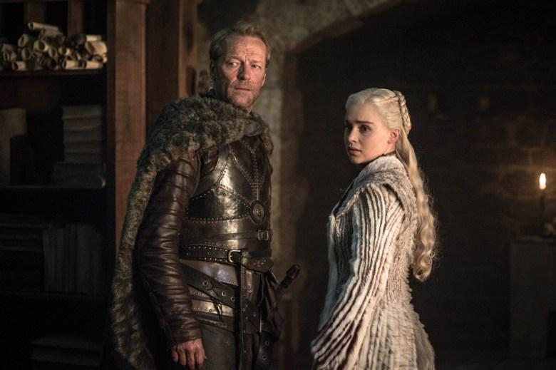 "Iain Glen and Emilia Clarke, ""Game of Thrones"""