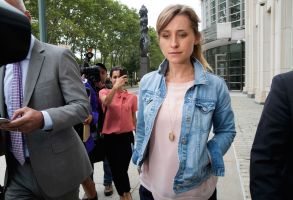 Actress Allison Mack, center, leaves Federal court, in the Brooklyn borough of New YorkBranded Women, New York, USA - 25 Jul 2018
