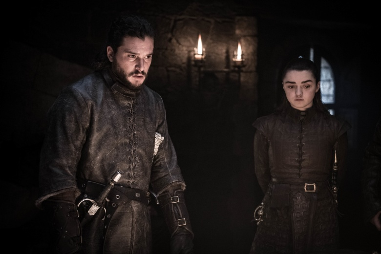 "Kit Harington and Maisie Williams, ""Game of Thrones"""