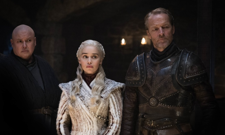 "Conleth Hill, Emilia Clarke, and Iain Glen, ""Game of Thrones"""