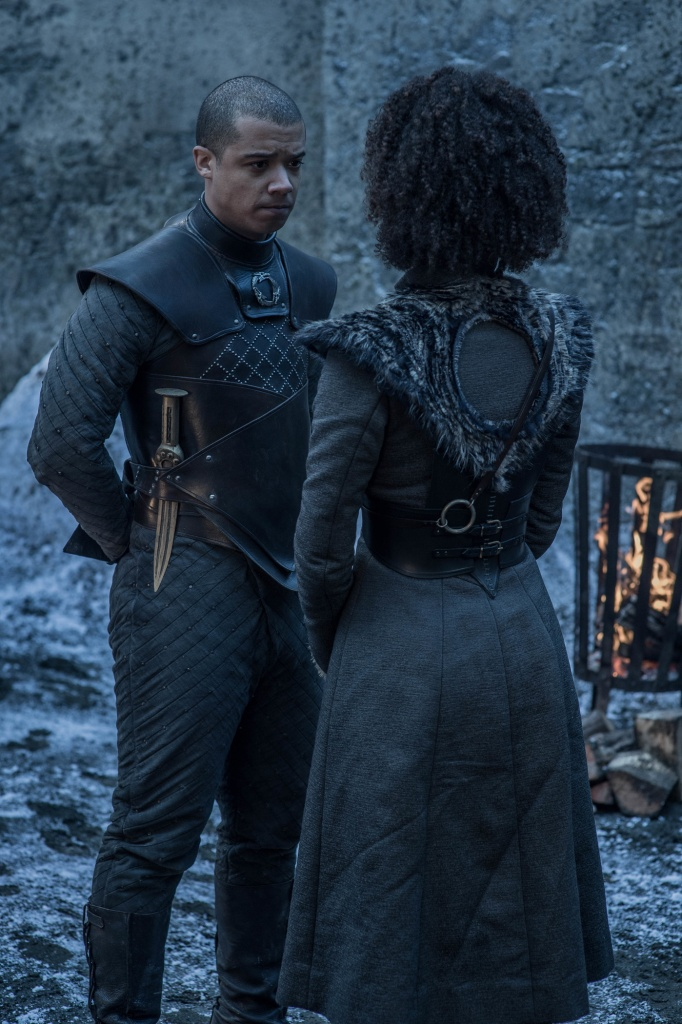 "Jacob Anderson and Nathalie Emmanuel, ""Game of Thrones"""