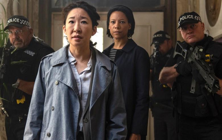 """Sandra Oh and Nina Sosanya, """"Killing Eve"""""""
