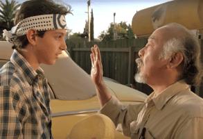 "Ralph Macchio and Pat Morita, ""The Karate Kid"""
