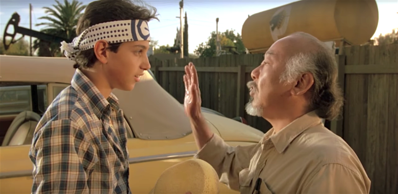 "Ralph Macchio and Pat Morita, ""The Karate Kid"""