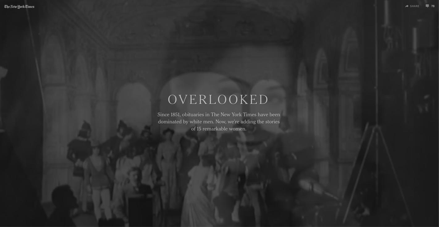 """""""Overlooked"""""""