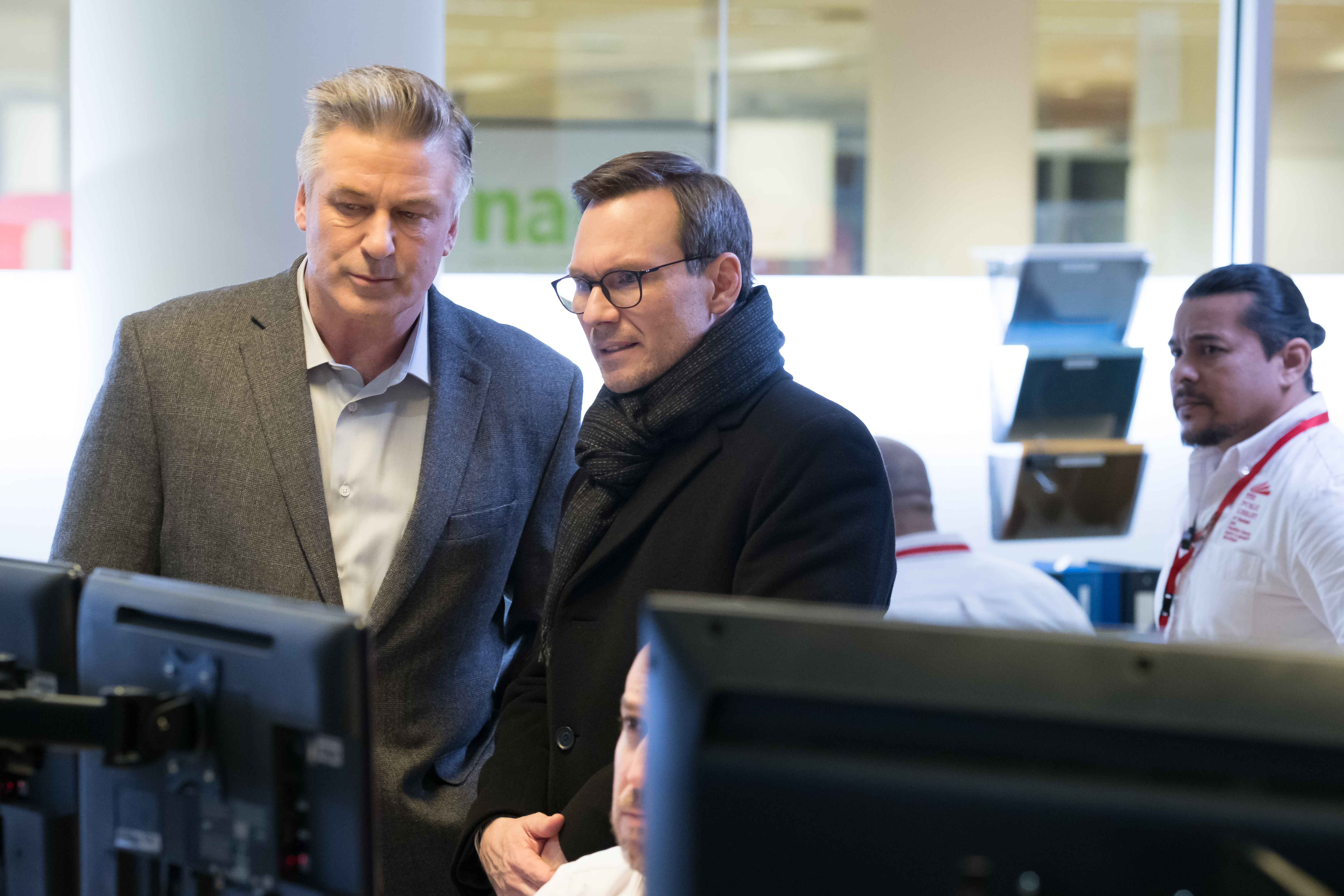 "Alec Baldwin and Christian Slater play law enforcement officials in ""The Public"""
