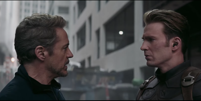 Steve and Tony in Endgame.