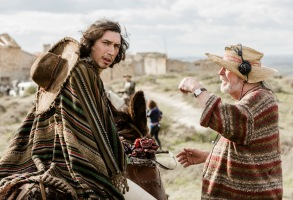 "Terry Gilliam and Adam Driver shooting ""The Man Who Killed Don Quixote"""