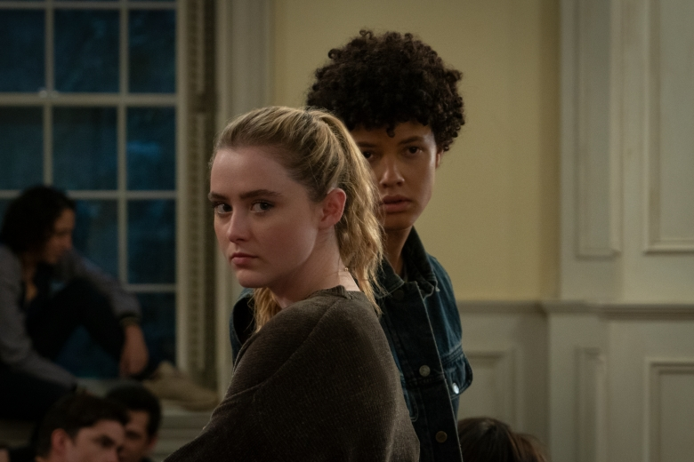 "Kathryn Newton, Jacques Colimon in ""The Society."""