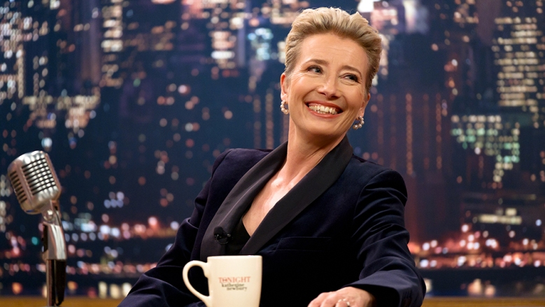 Emma Thompson appears in Late Night by Nisha Ganatra, an official selection of the Premieres program at the 2019 Sundance Film Festival. Courtesy of Sundance Institute | photo by Emily Aragones.All photos are copyrighted and may be used by press only for the purpose of news or editorial coverage of Sundance Institute programs. Photos must be accompanied by a credit to the photographer and/or 'Courtesy of Sundance Institute.' Unauthorized use, alteration, reproduction or sale of logos and/or photos is strictly prohibited.