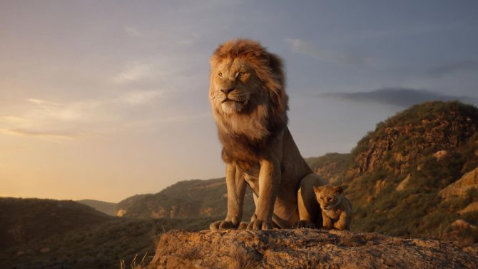 """THE LION KING - Featuring the voices of James Earl Jones as Mufasa, and JD McCrary as Young Simba, Disney's """"The Lion King"""" is directed by Jon Favreau. In theaters July 29, 2019.© 2019 Disney Enterprises, Inc. All Rights Reserved."""