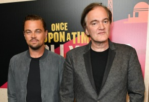 Leonardo DiCaprio and Quentin Tarantino'Once Upon a Time in Hollywood' presentation, Arrivals, CinemaCon, Las Vegas, USA - 23 Apr 2018Sony Pictures Entertainment presentation