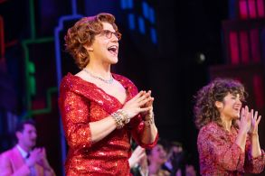 Santino Fontana and Sarah Stiles'Tootsie' Broadway play opening night, Curtain Call, Marquis Theater, New York, USA - 23 Apr 2019