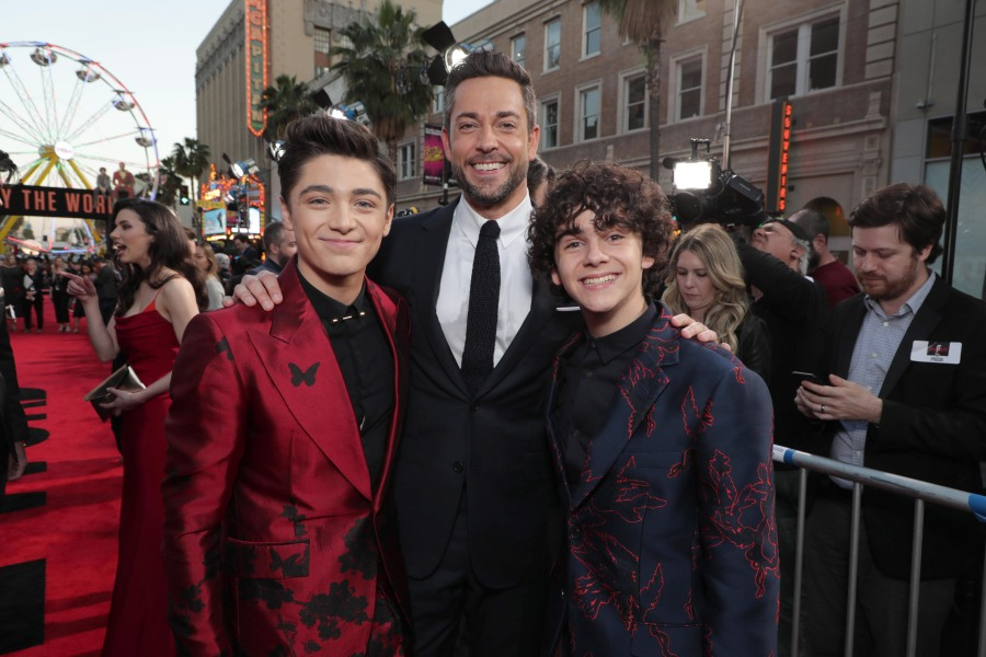 Asher Angel, Zachary Levi, and Jack Dylan Grazer