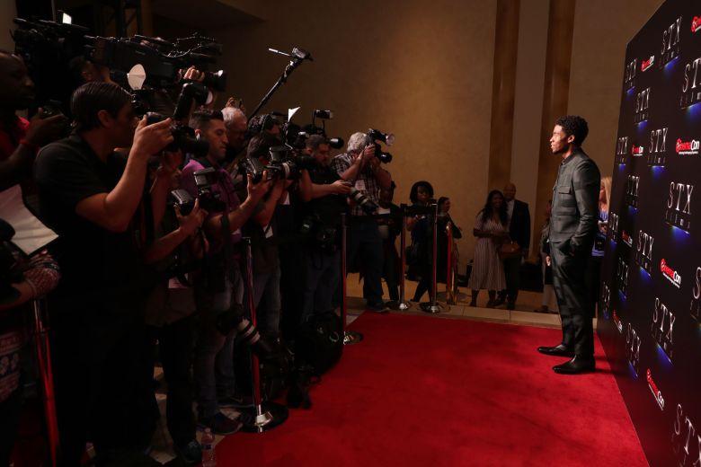 Chadwick Boseman at STXfilms Presentation at The Colosseum at Caesar's Palace at CinemaCon 2019, Las Vegas, NV, USA - 2 April 2019STXfilms Presentation at The Colosseum at Caesar?s Palace, Las Vegas, NV, USA - 2 April 2019