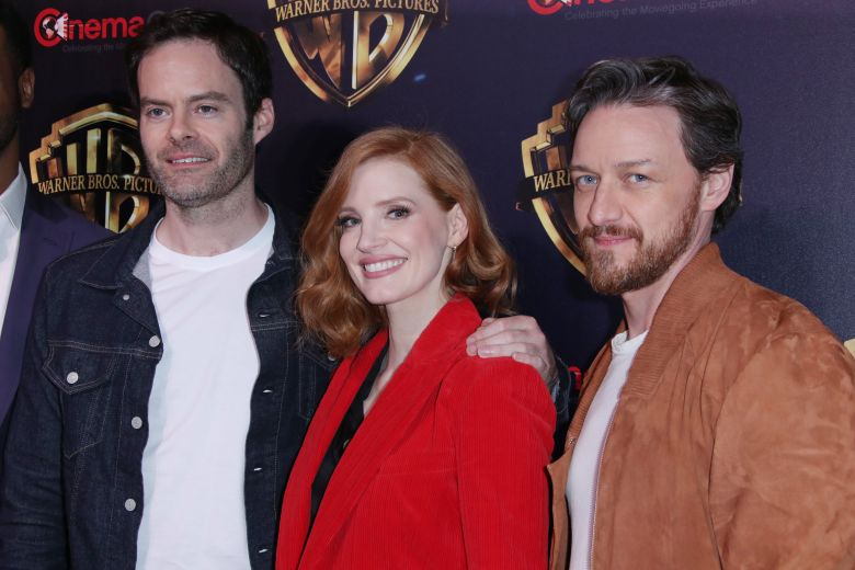 Bill Hader, Jessica Chastain and James McAvoy Warner Bros 'The Big Picture Show', CinemaCon, Las Vegas, USA - 02 Apr 2019