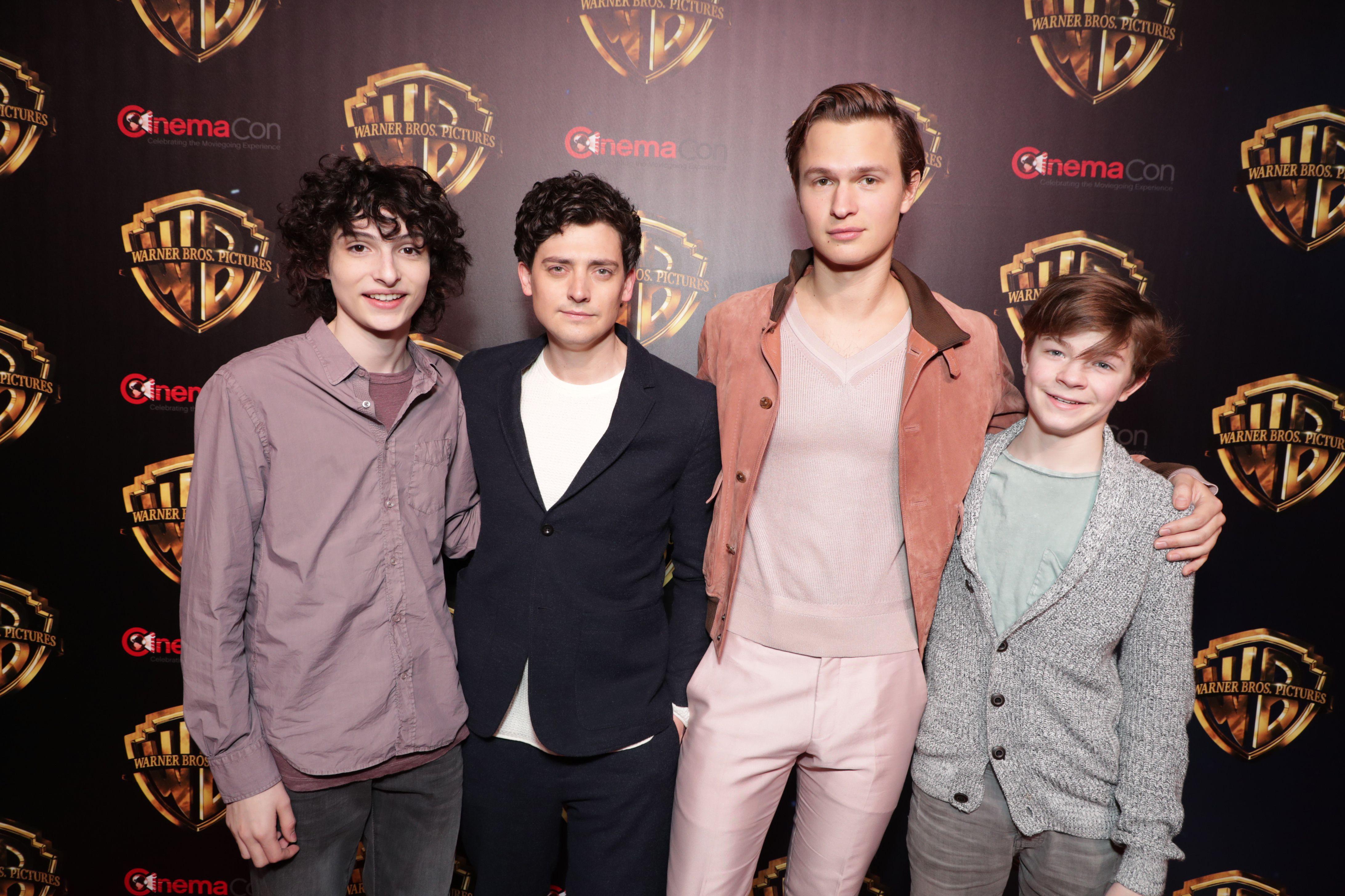 Finn Wolfhard, Aneurin Barnard, Ansel Elgort, Oakes FegleyWarner Bros. The Big Picture 2019 at CinemaCon 2019 at The Colosseum at Caesar's Palace, Las Vegas, NV, USA - 2 April 2019
