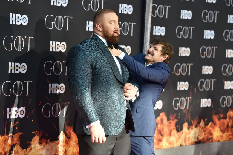 Hafthor Bjornsson and Pedro Pascal'Game of Thrones' season eight premiere, Arrivals, New York, USA - 03 Apr 2019