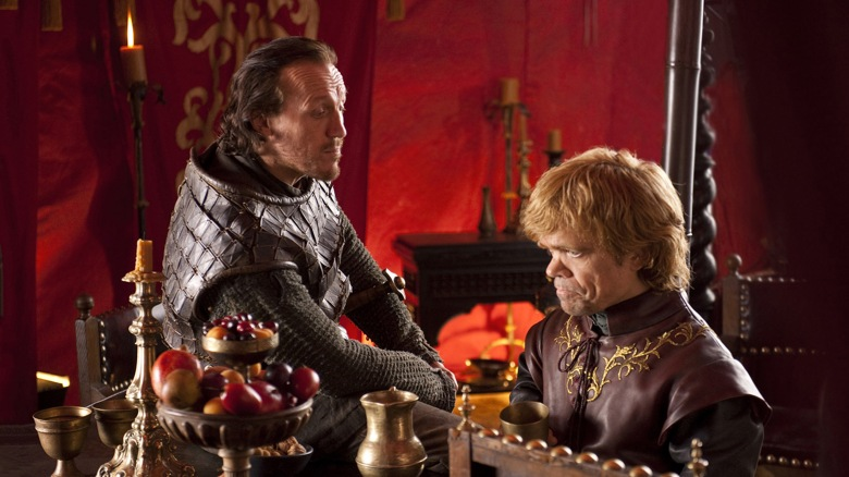 Editorial use only. No book cover usage.Mandatory Credit: Photo by Hbo/Kobal/REX/Shutterstock (5886225u)Jerome Flynn, Peter DinklageGame Of Thrones - 2011HboUSATelevisionLe trône de fer