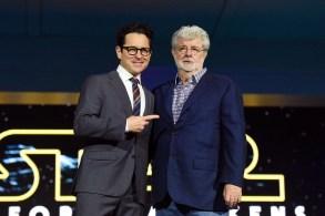 J.J. Abrams George Lucas Star Wars the Force Awakens