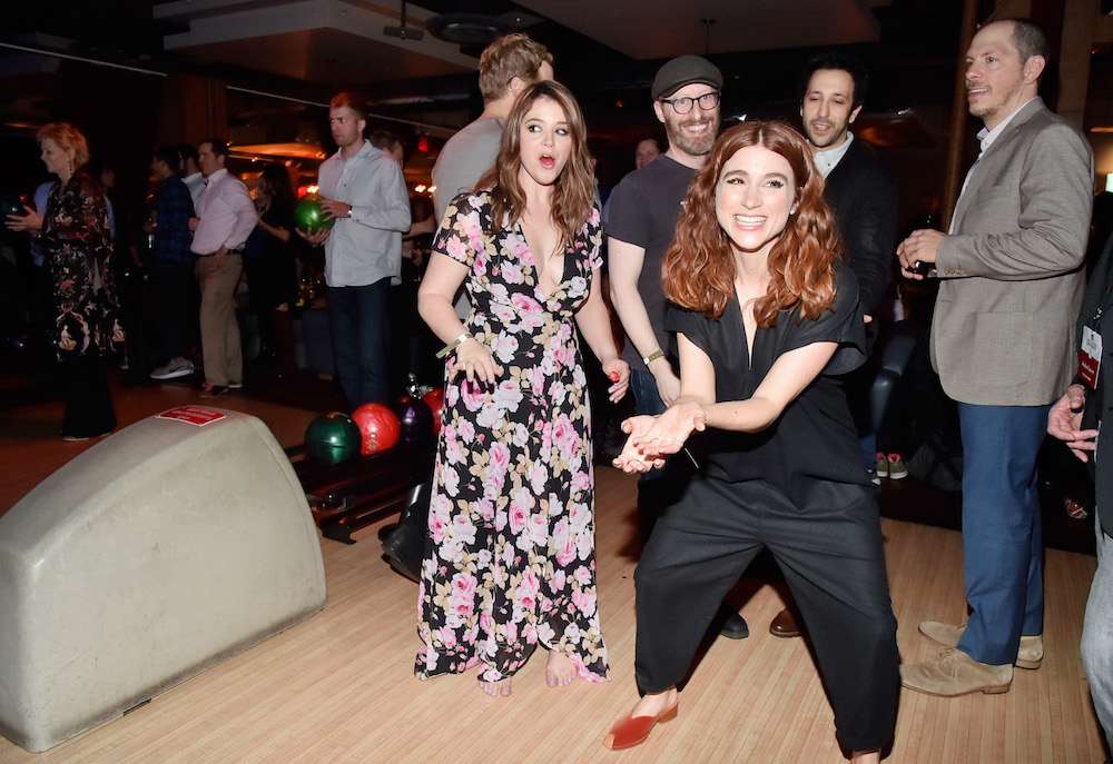 Kether Donohue, Chris Geere, Aya Cash, Desmin Borges and Stephen FalkFX Networks 2017 All-Star Upfront, 8th Annual Bowling Party, New York, USA - 06 Apr 2017